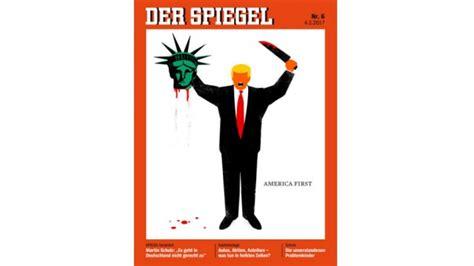 german magazine cover shows trump beheading statue  liberty