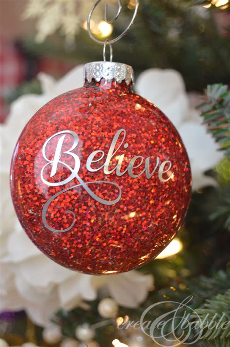 diy glitter ornaments create and babble - The Christmas Ornaments