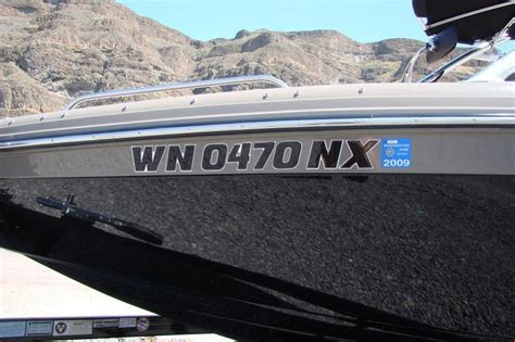Idaho Boat Registration by Custom Boat Registration Hull Numbers Gooding Graphics