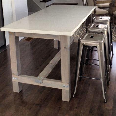 white quartz dining table diy harvest table kitchen island with white quartz counter