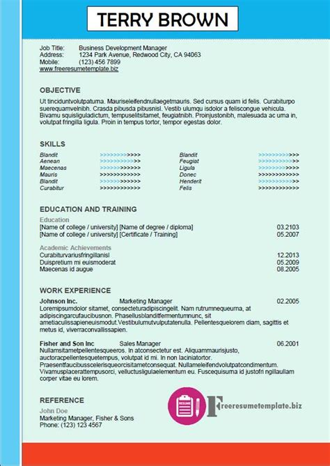 Today S Resume 2015 by Free Resume Templates Pack 8 Today