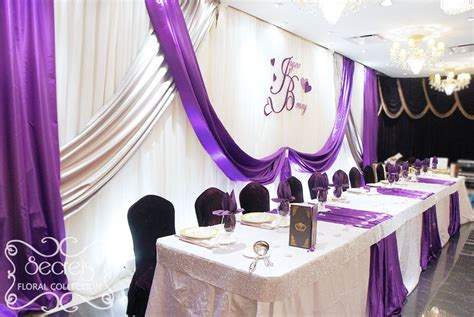 purple and white wedding theme crystallized royal purple and silver wedding receptions
