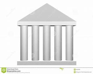 Law And Order Roman Columns Stock Illustration