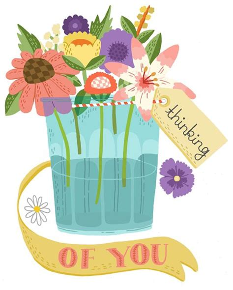 thinking of you clipart thinking of you flower and on