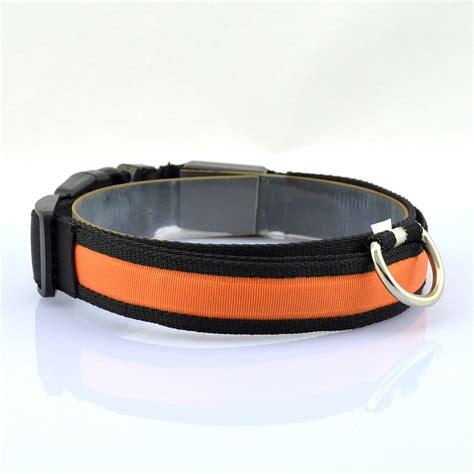 light for collar adjustable 4 size led light pet safety