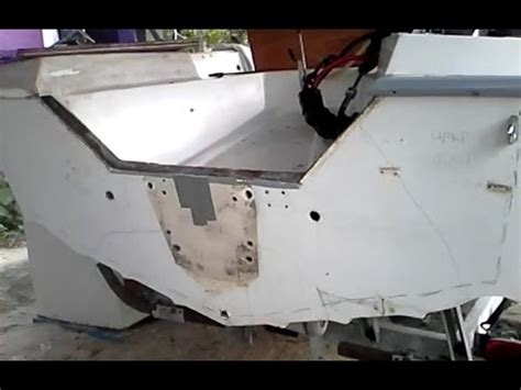 remove fiberglass boat transom rotted plywood board