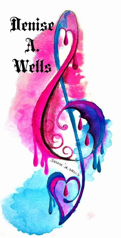 Clef Tattoo Treble Watercolor Denise Wells Tattoos