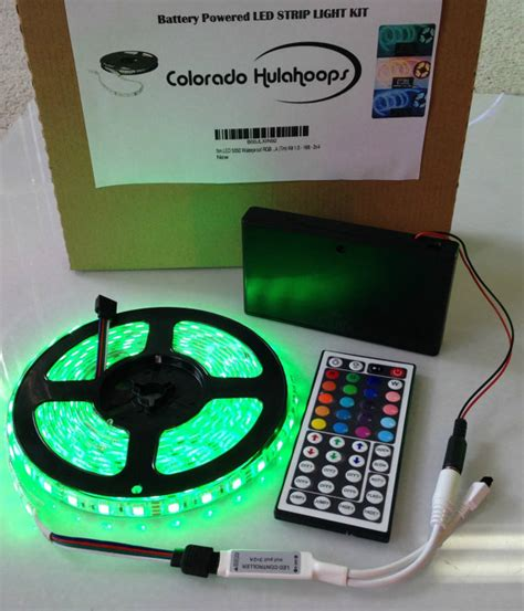battery powered 5050 rgb led light kit 44 key remote
