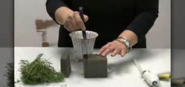 dried flower arrangements how to foam a container for floral arrangements flower