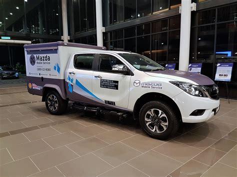 bt mobile service bermaz motor launches mazda mobile service unit