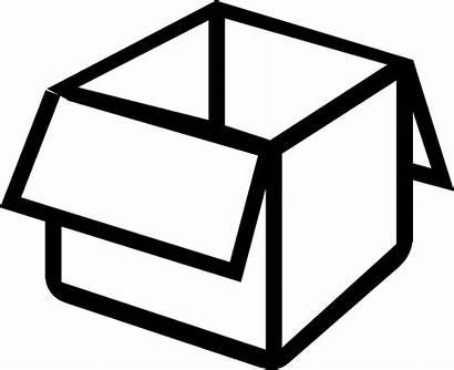 Clipart Box Icon Open Svg Muji Transparent