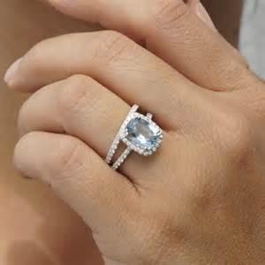 aquamarine engagement rings aquamarine 9x7 cushion dainty halo engagement ring
