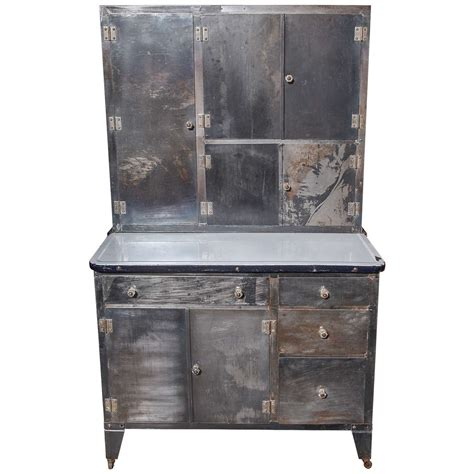 1930 s quot packer quot rolling metal hoosier cabinet at 1stdibs