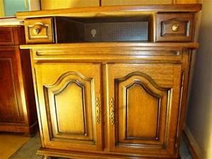 Meuble Tv Rustique : meuble tv hifi ch ne rustique ~ Nature-et-papiers.com Idées de Décoration