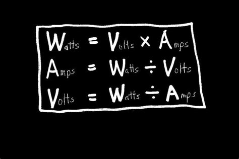 Understanding Wiring Amps Watts Volts Google Search