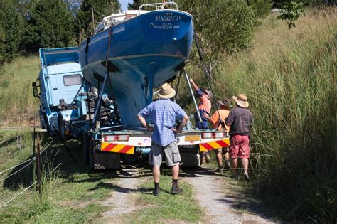 Boat Transport Qld To Adelaide by Trucking Timber Yacht From Perth Wa To Qld Sailing