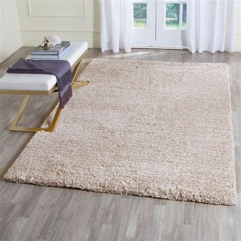 Shaggy Area Rugs by Safavieh Ultimate Shag Sand Ivory 8 Ft X 10 Ft Area Rug