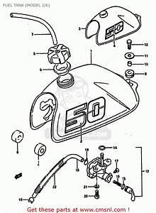 Suzuki Lt50 1988  J  Fuel Tank  Model J  K