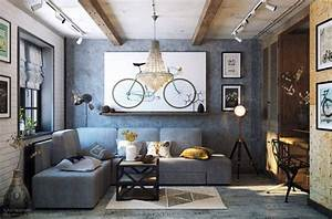 Industrial Design Wohnzimmer : cozy industrial living room design in grey tones digsdigs ~ Markanthonyermac.com Haus und Dekorationen
