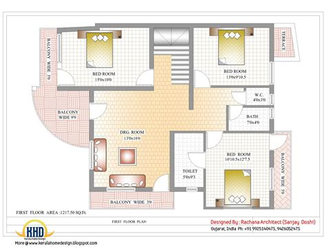 Floors Plans : Indian Home Design With House Plan