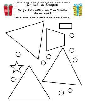christmas math activities  reception kindergarten