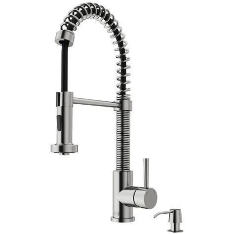 VIGO Edison Single Handle Pull Down Sprayer Kitchen Faucet