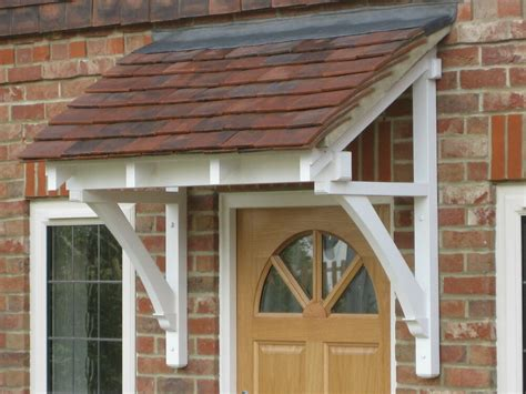 period timber canopy cottage style front door porch door