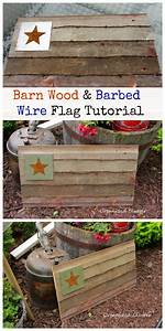Barn Wood  U0026 Barbed Wire Flag Tutorial