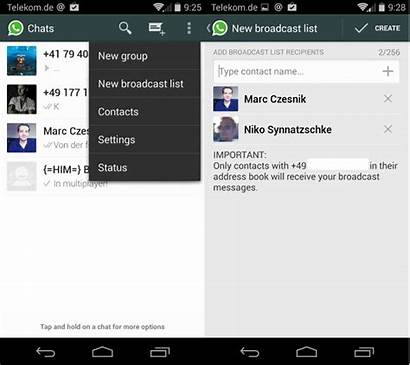 Whatsapp Chat Broadcast Android Broadcasts Tutorial Differ