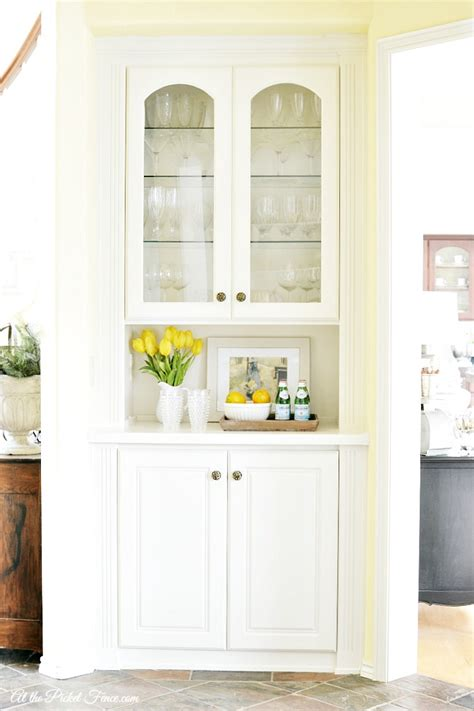china cabinet white built in china cabinet makeover at the picket fence