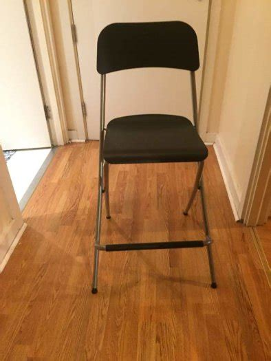 Barhocker Klappbar Ikea by Ikea Bar Stool With Backrest Foldable Franklin For Sale In
