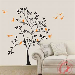 Tree of life silhouette design wall decal