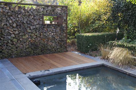 Moderne Gartengestaltung Mit Holz by Rost Cortenstahl Zinsser Gartengestaltung