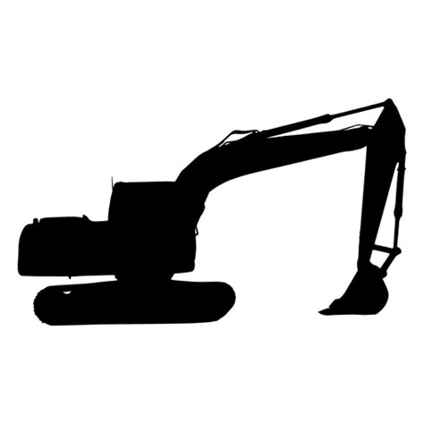 excavator silhouette transparent png svg vector file