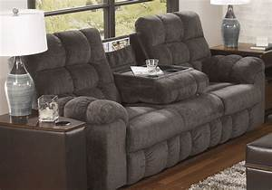 Acieona reclining sofa w drop down table lexington for Sectional sofa with drop down table