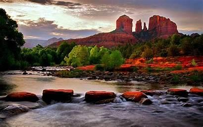 Sedona Arizona River Nature Wallpapers Canyons Desktop