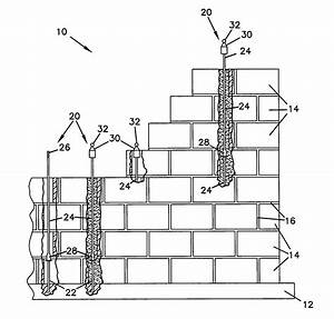 patent us7448179 rebar reinforced masonry wall system With wiring a block wall