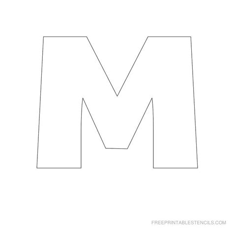 big letter m big letter printable stencils a to z free printable 20607 | c933ed6ecacc59d803713c2c02218af3