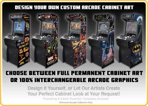 Xtension Arcade Cabinet Graphics by Xtension Arcade Cabinet Monitors Images