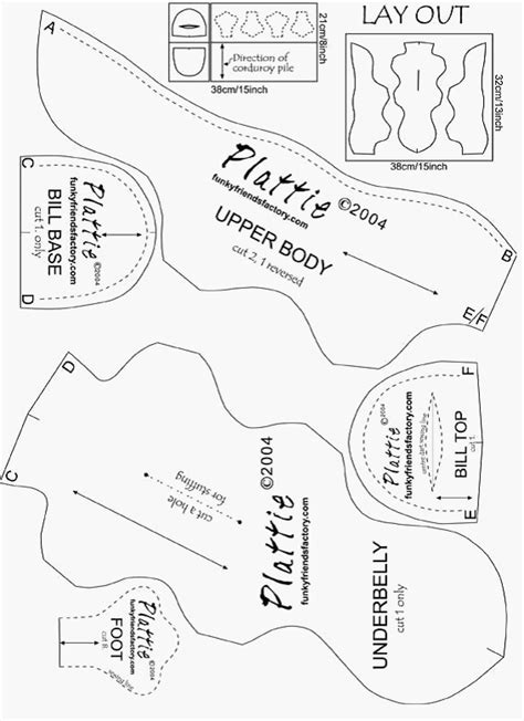 sewing templates free sewing pattern soft platypus