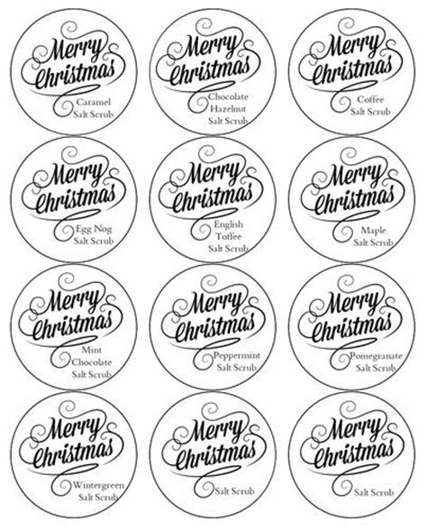 homemade salt scrub labels label templates ol350