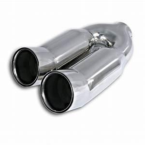Embout Echappement Double : embout d chappement double rond relev adaptateur y ~ Voncanada.com Idées de Décoration