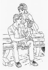 Amor Colorear Dibujos Barbie Coloring Bench Park Sitting Ninyas Amores Sky Coloringsky Dibujo sketch template