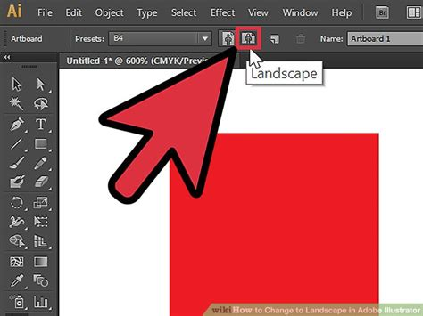 illustrator background color how to change to landscape in adobe illustrator 4 steps