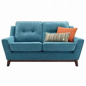 Furniture Modern Attractive Blue Microfiber Small Sofa