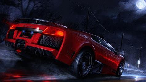 Red Lamborghini Hd Wallpaper