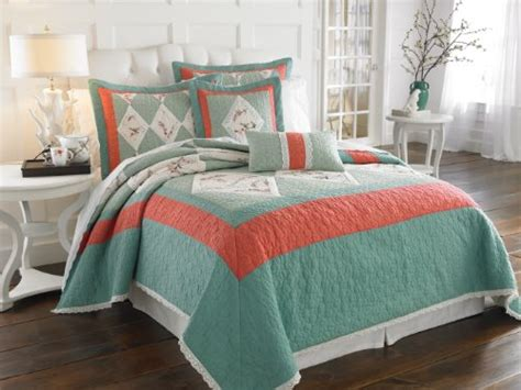 salmon colored comfortors Lenox Chirp Bedding and Bathroom Accessories home decor Pinterest