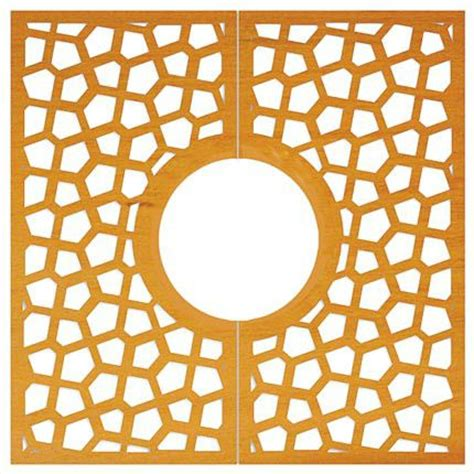 streetlife tree grille corten square with magic pattern