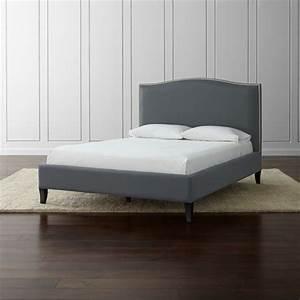 Colette Grey Upholstered Bed Crate And Barrel