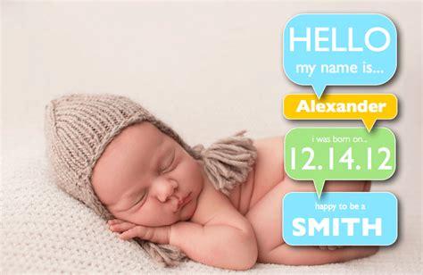 Birth Announcement Template Free by Boy Birth Announcement Template With Word Bubbles